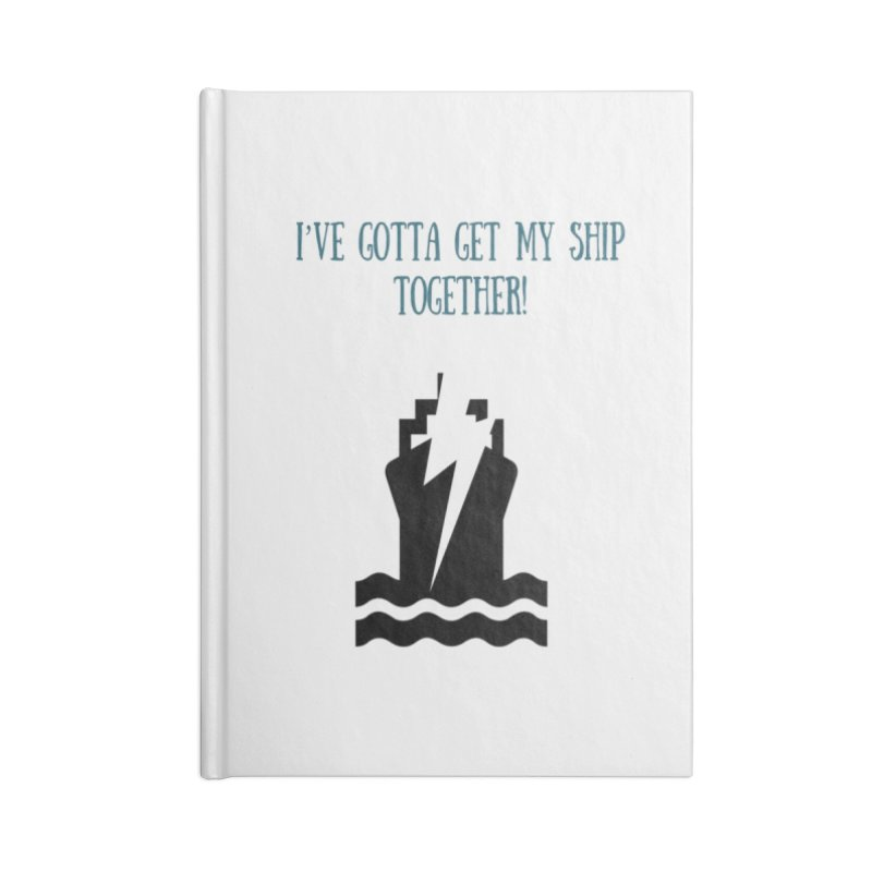 Ship together Accessories Blank Journal Notebook by Soapboxy Boutique
