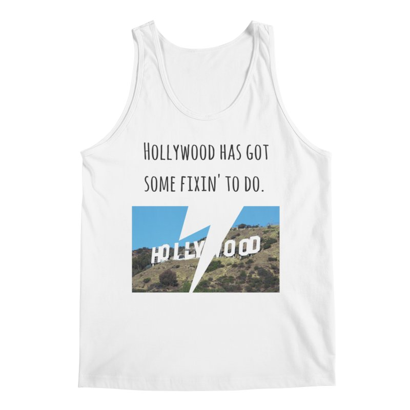 Hollywood... fixin' to do Men's Regular Tank by Soapboxy Boutique