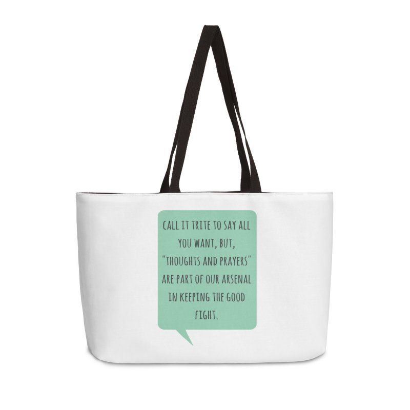 Thoughts and prayers Accessories Bag by Soapboxy Boutique