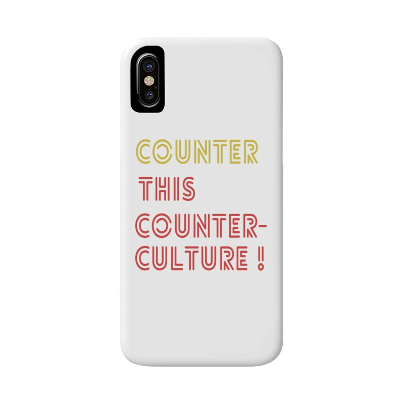Counter this counterculture in iPhone X / XS Phone Case Slim by Soapboxy Boutique