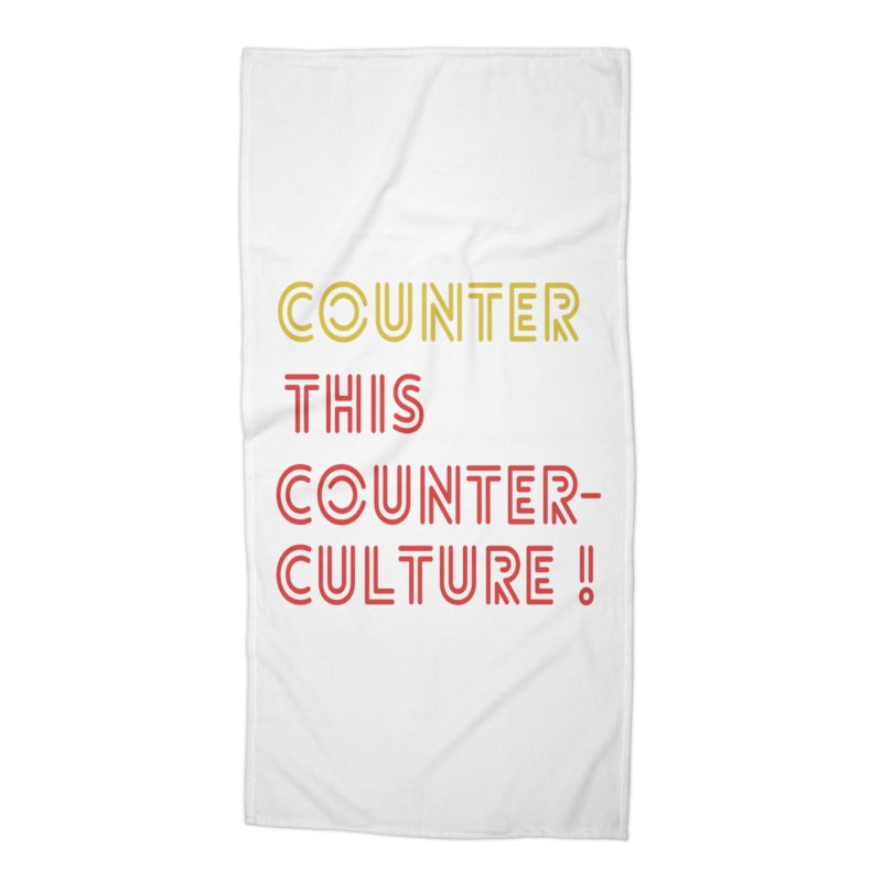 Counter this counterculture Accessories Beach Towel by Soapboxy Boutique