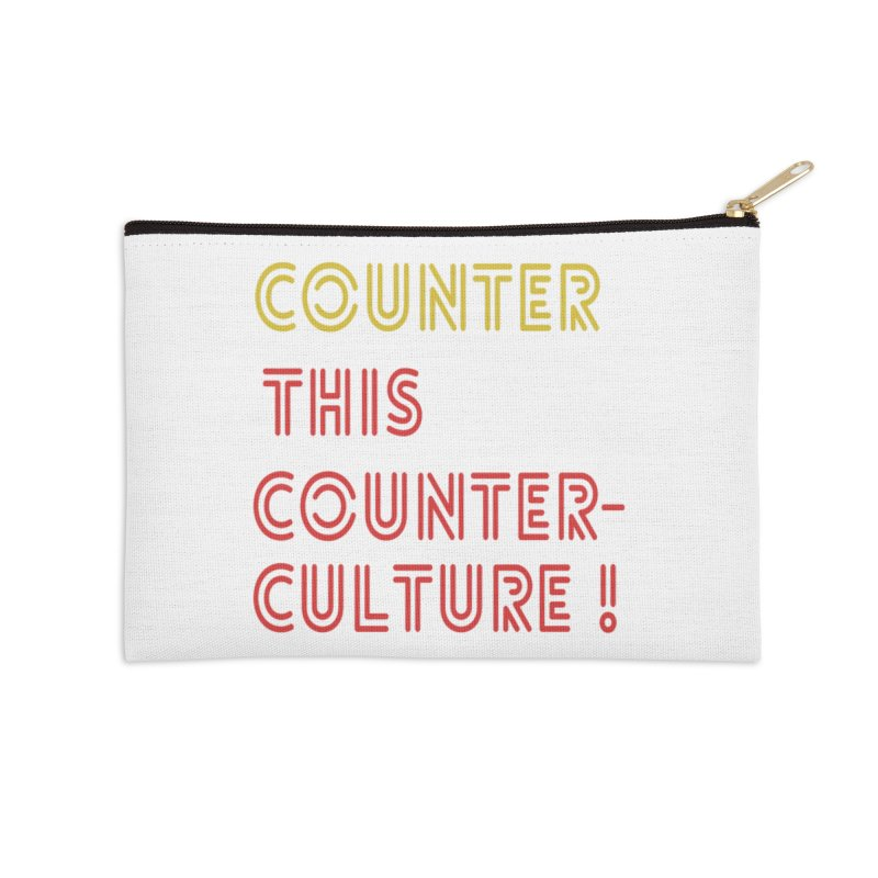 Counter this counterculture Accessories Zip Pouch by Soapboxy Boutique