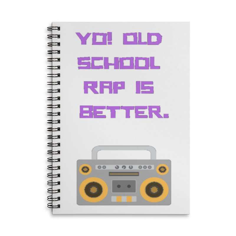 Yo! Old school rap Accessories Lined Spiral Notebook by Soapboxy Boutique