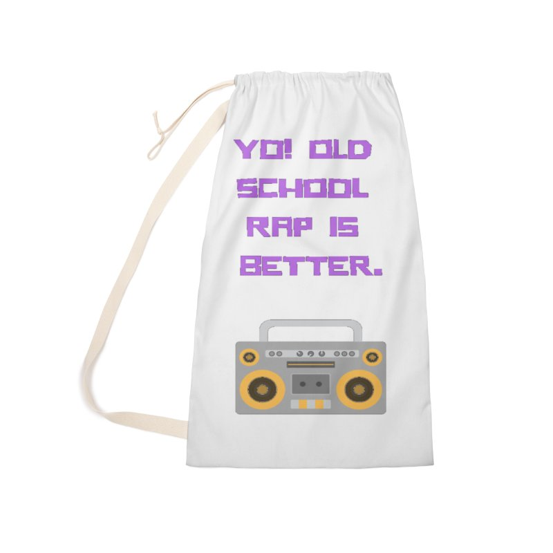 Yo! Old school rap Accessories Laundry Bag Bag by Soapboxy Boutique