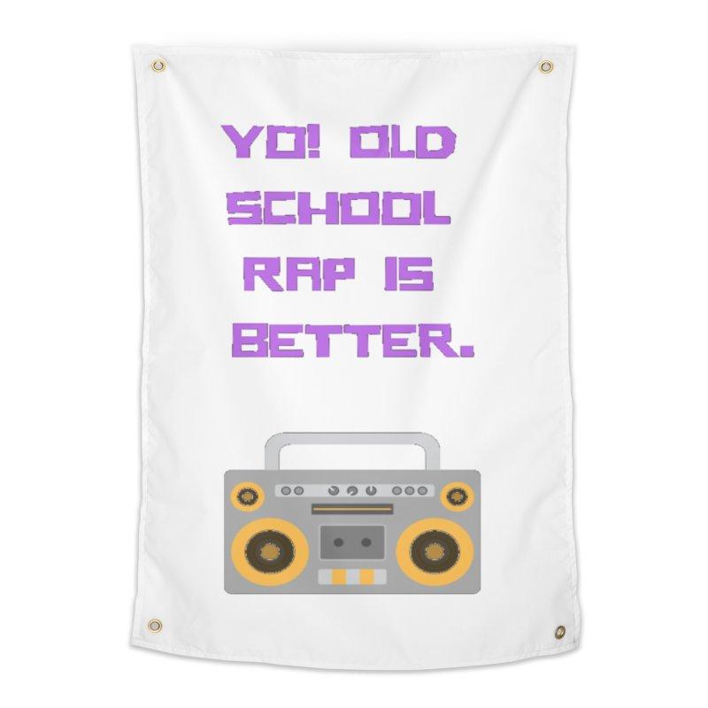 Yo! Old school rap Home Tapestry by Soapboxy Boutique