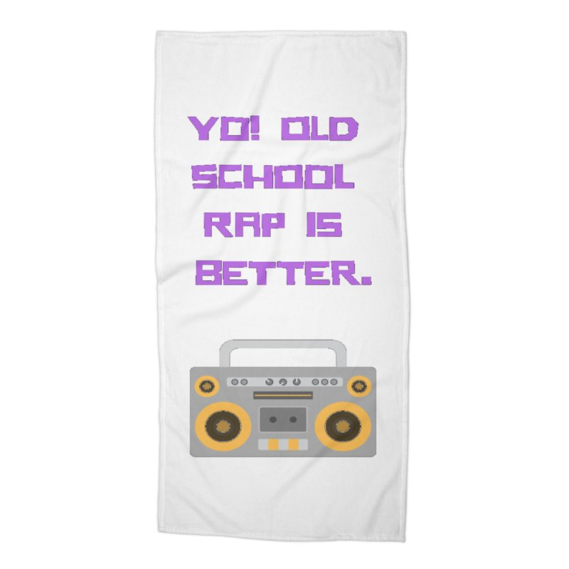 Yo! Old school rap Accessories Beach Towel by Soapboxy Boutique