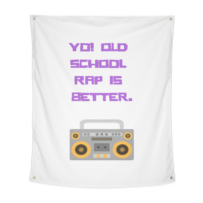 Yo! Old school rap Home Tapestry by Soapboxy Boutique