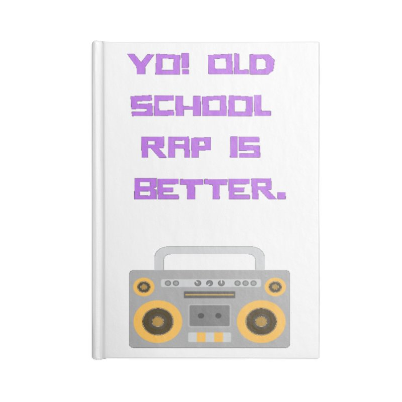 Yo! Old school rap Accessories Lined Journal Notebook by Soapboxy Boutique