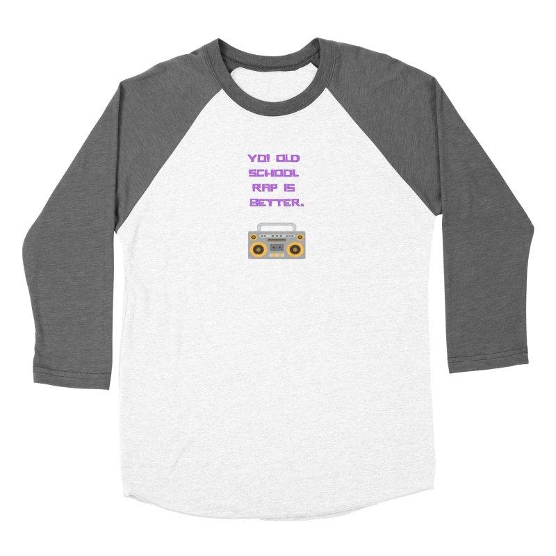 Yo! Old school rap Women's Longsleeve T-Shirt by Soapboxy Boutique