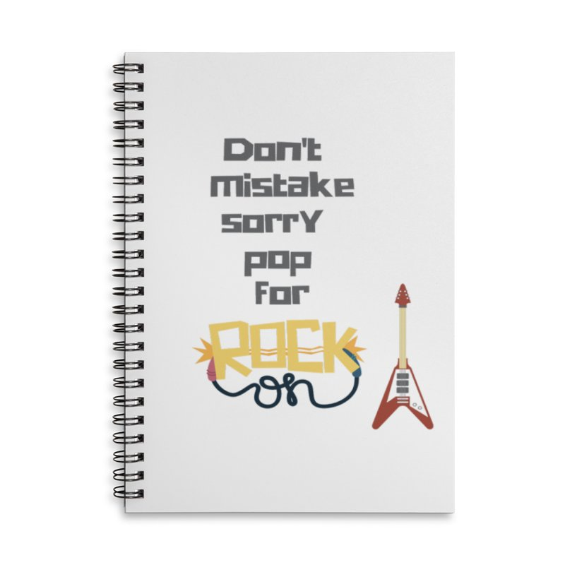 Don't mistake... Accessories Lined Spiral Notebook by Soapboxy Boutique