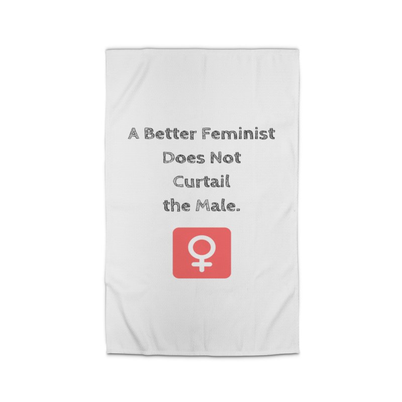 Better feminism Home Rug by Soapboxy Boutique