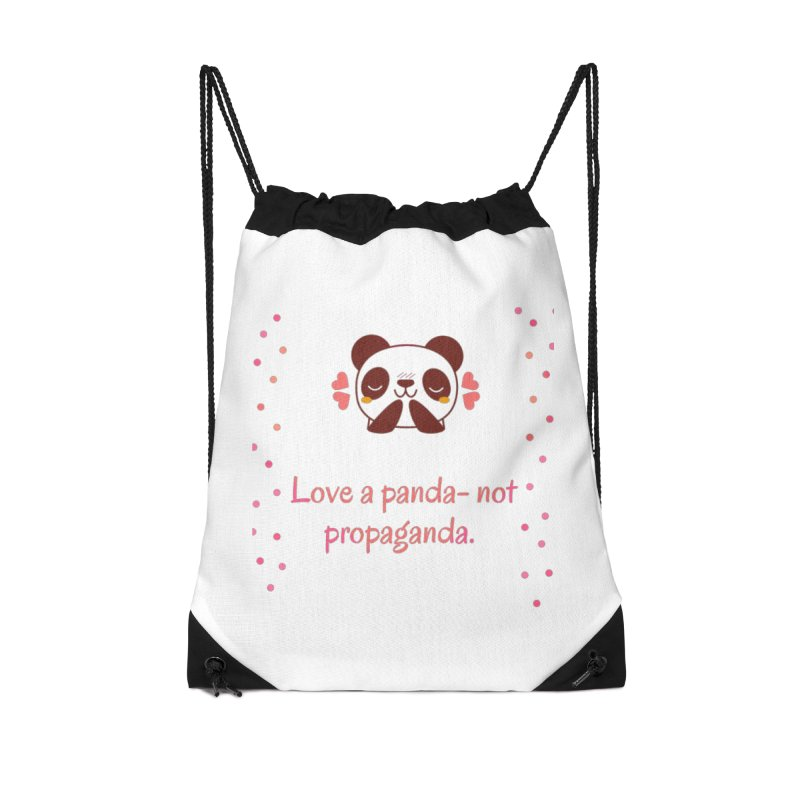 Love a panda Accessories Drawstring Bag Bag by Soapboxy Boutique
