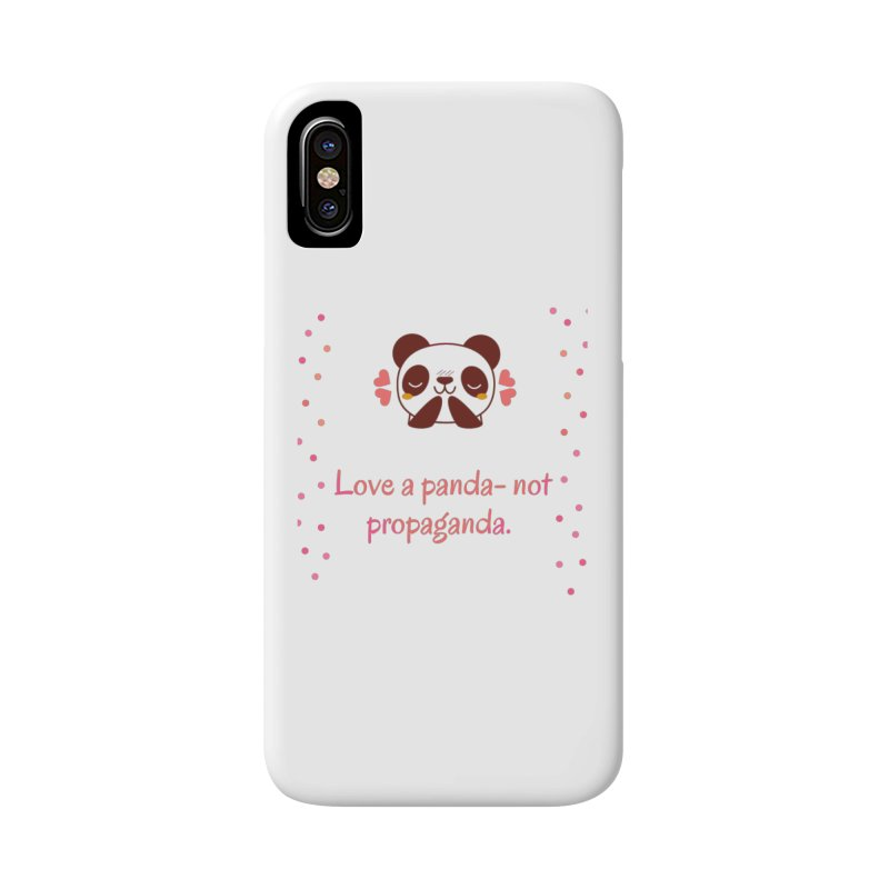 Love a panda Accessories Phone Case by Soapboxy Boutique