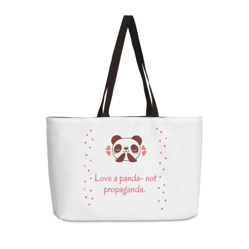 Love a panda Accessories Weekender Bag Bag by Soapboxy Boutique