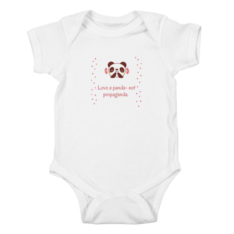 Love a panda Kids Baby Bodysuit by Soapboxy Boutique