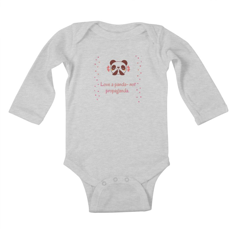 Love a panda Kids Baby Longsleeve Bodysuit by Soapboxy Boutique