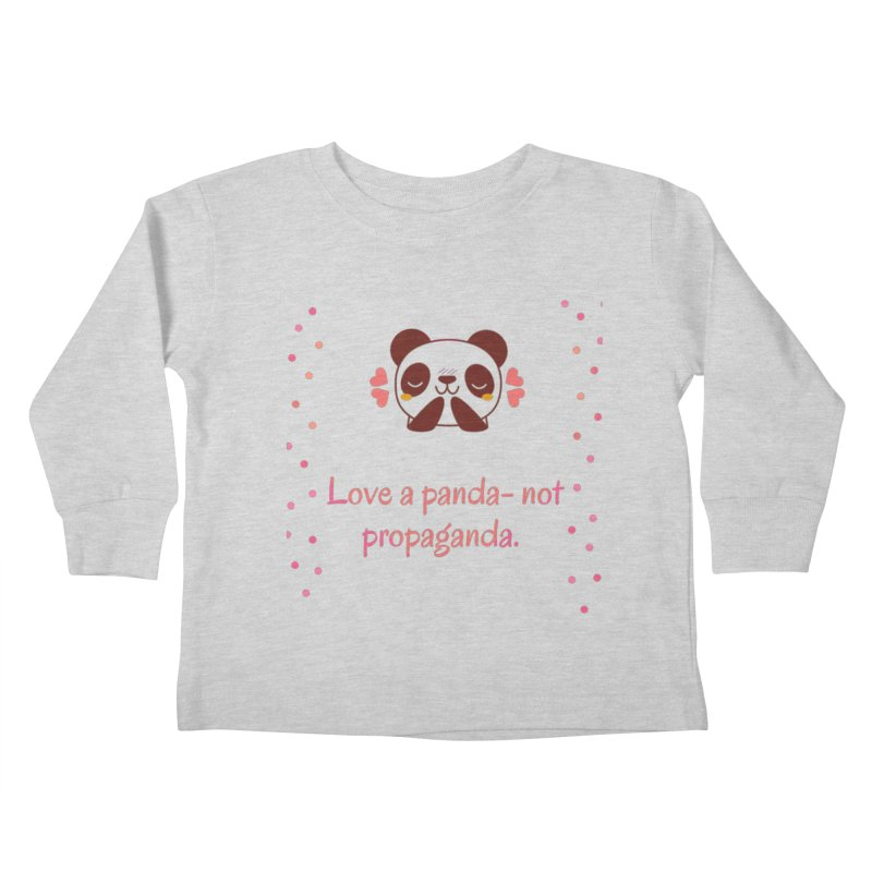 Love a panda Kids Toddler Longsleeve T-Shirt by Soapboxy Boutique