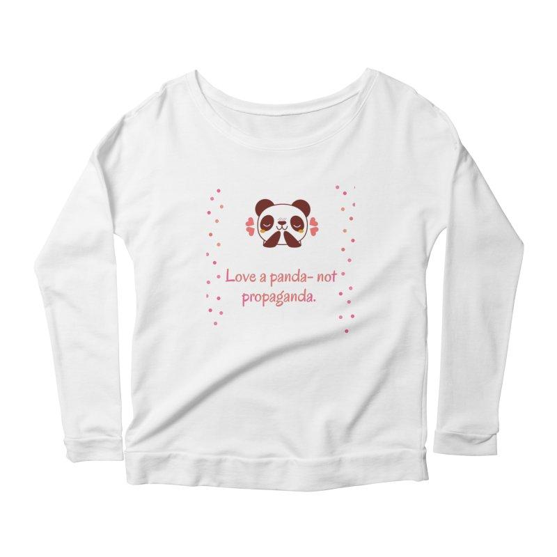 Love a panda Women's Scoop Neck Longsleeve T-Shirt by Soapboxy Boutique