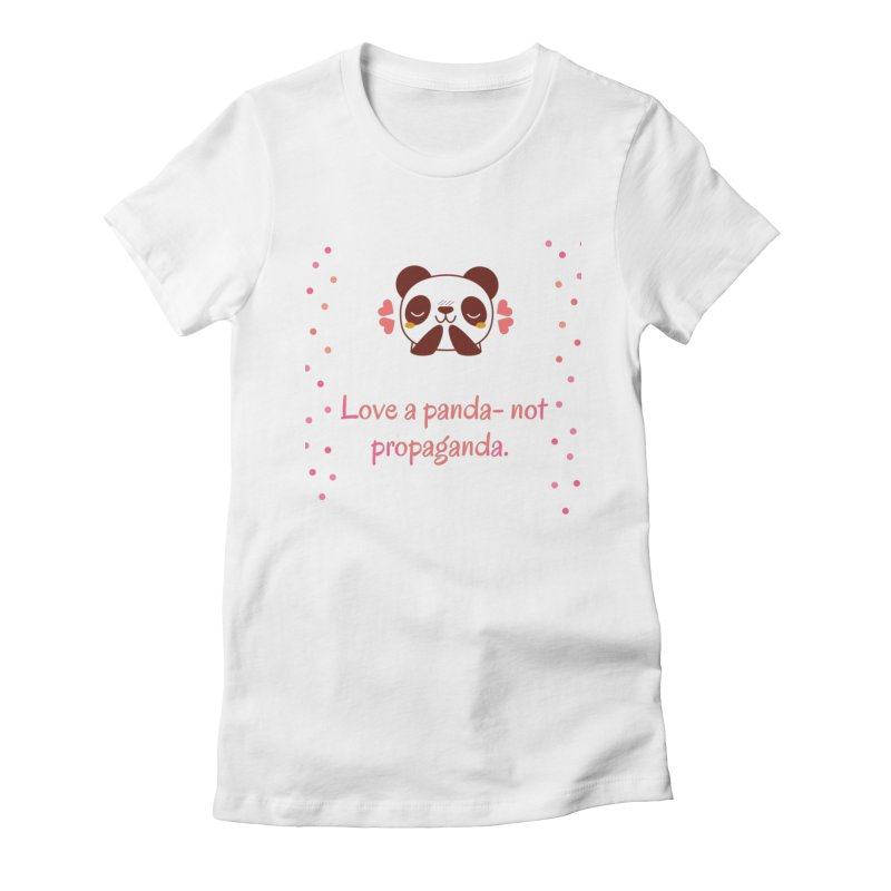 Love a panda Women's Fitted T-Shirt by Soapboxy Boutique