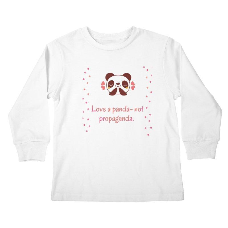 Love a panda Kids Longsleeve T-Shirt by Soapboxy Boutique