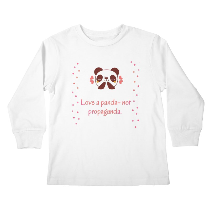 Love a panda Kids Longsleeve T-Shirt by Soapboxy Boutique