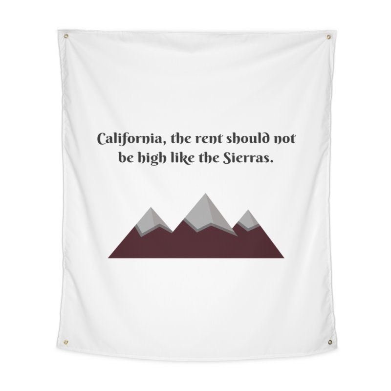 California, the rent should not be high Home Tapestry by Soapboxy Boutique