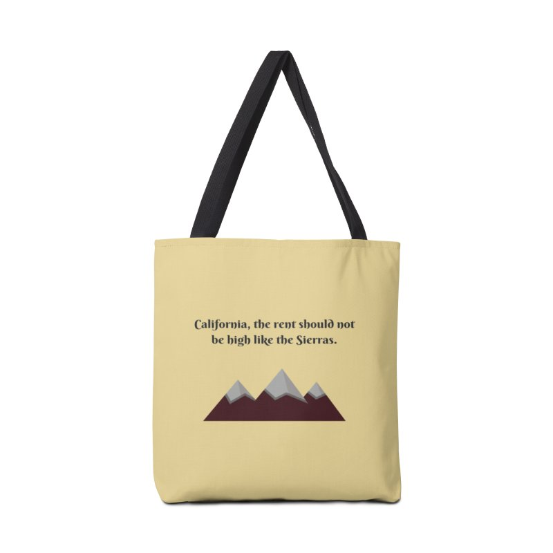 California, the rent should not be high Accessories Tote Bag Bag by Soapboxy Boutique