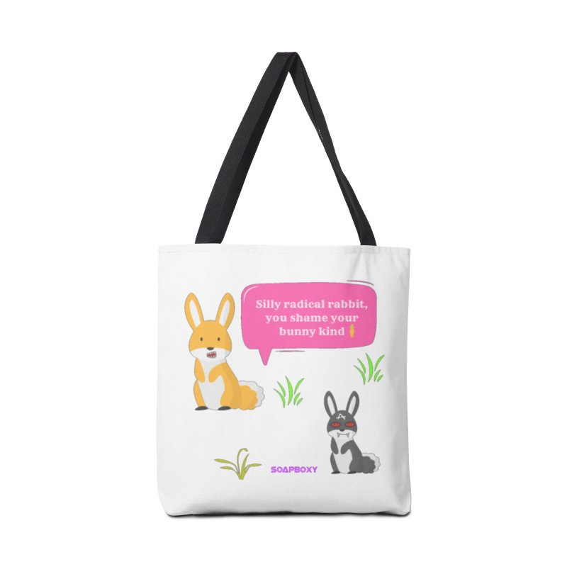 Bunny kind Accessories Tote Bag Bag by Soapboxy Boutique