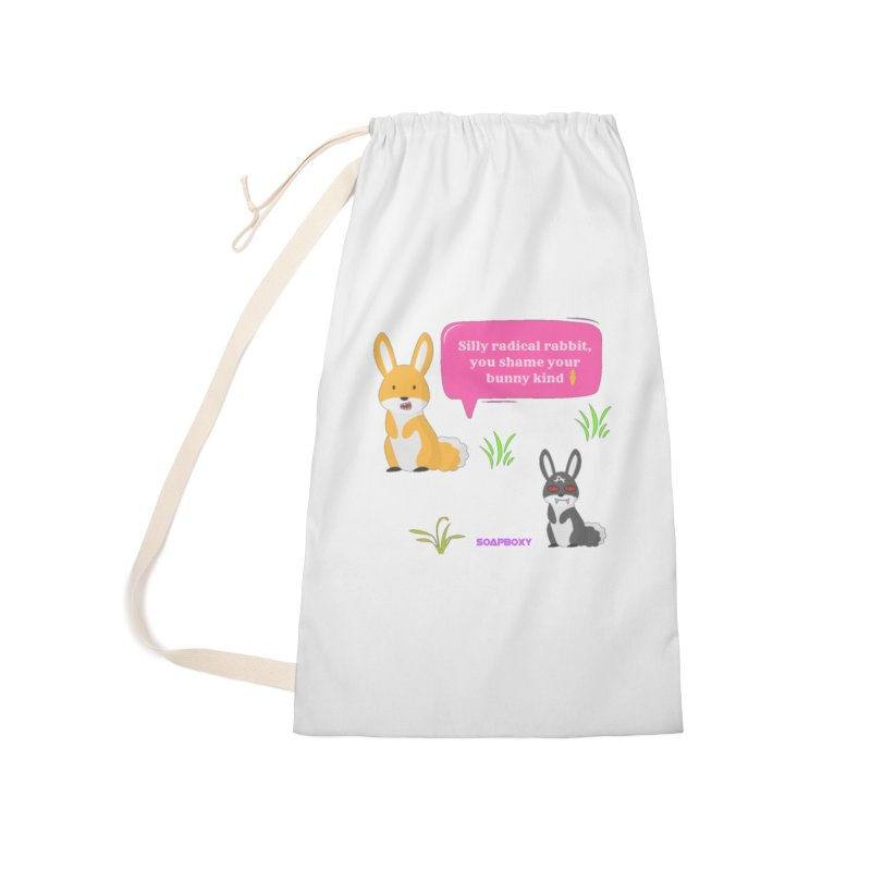 Bunny kind Accessories Laundry Bag Bag by Soapboxy Boutique