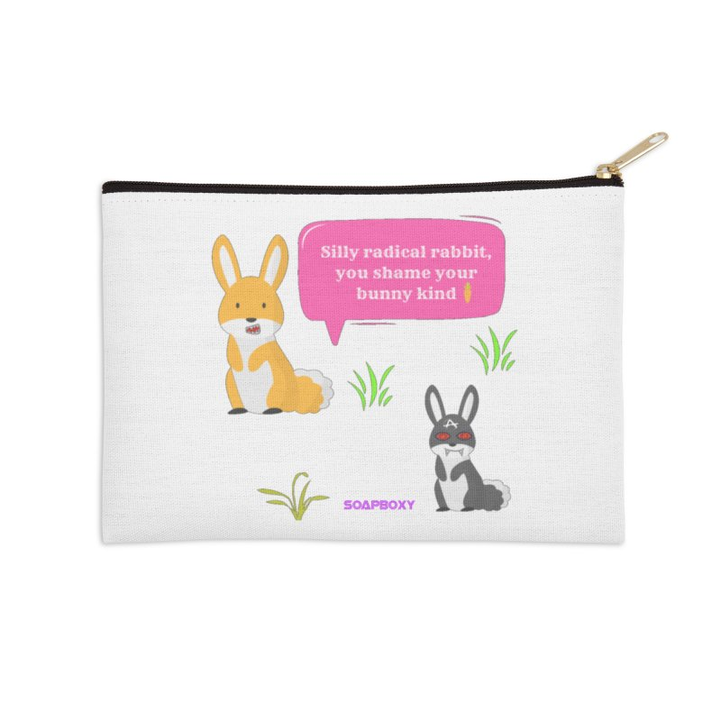 Bunny kind Accessories Zip Pouch by Soapboxy Boutique