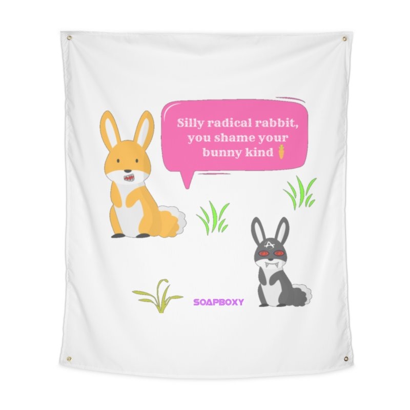 Bunny kind Home Tapestry by Soapboxy Boutique