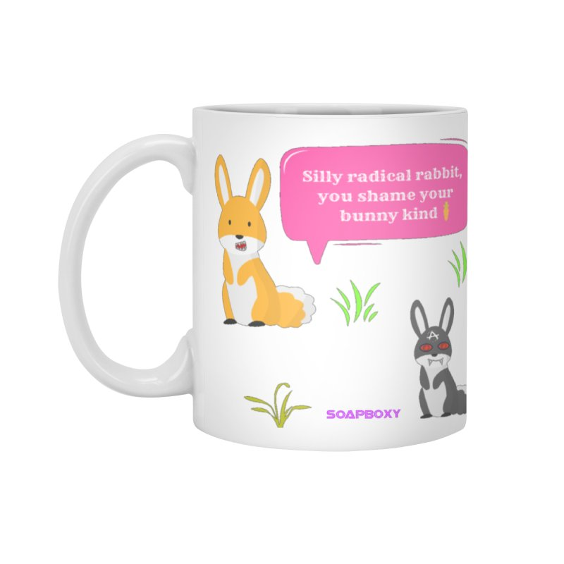 Bunny kind Accessories Mug by Soapboxy Boutique