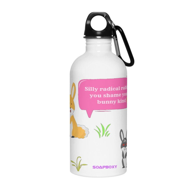 Bunny kind Accessories Water Bottle by Soapboxy Boutique