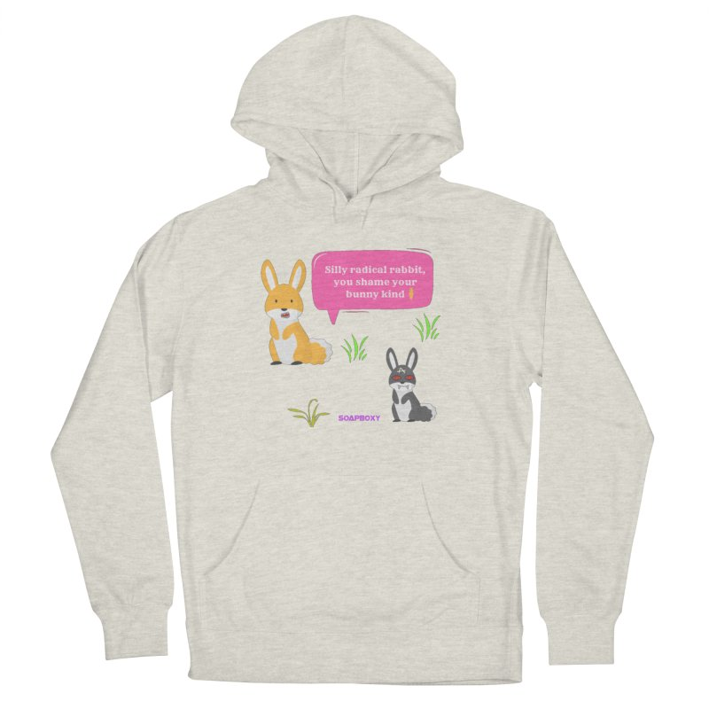 Bunny kind Women's French Terry Pullover Hoody by Soapboxy Boutique