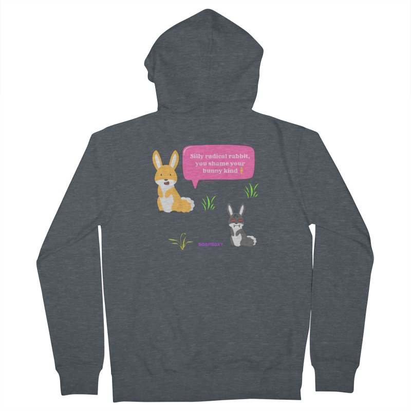 Bunny kind Women's French Terry Zip-Up Hoody by Soapboxy Boutique