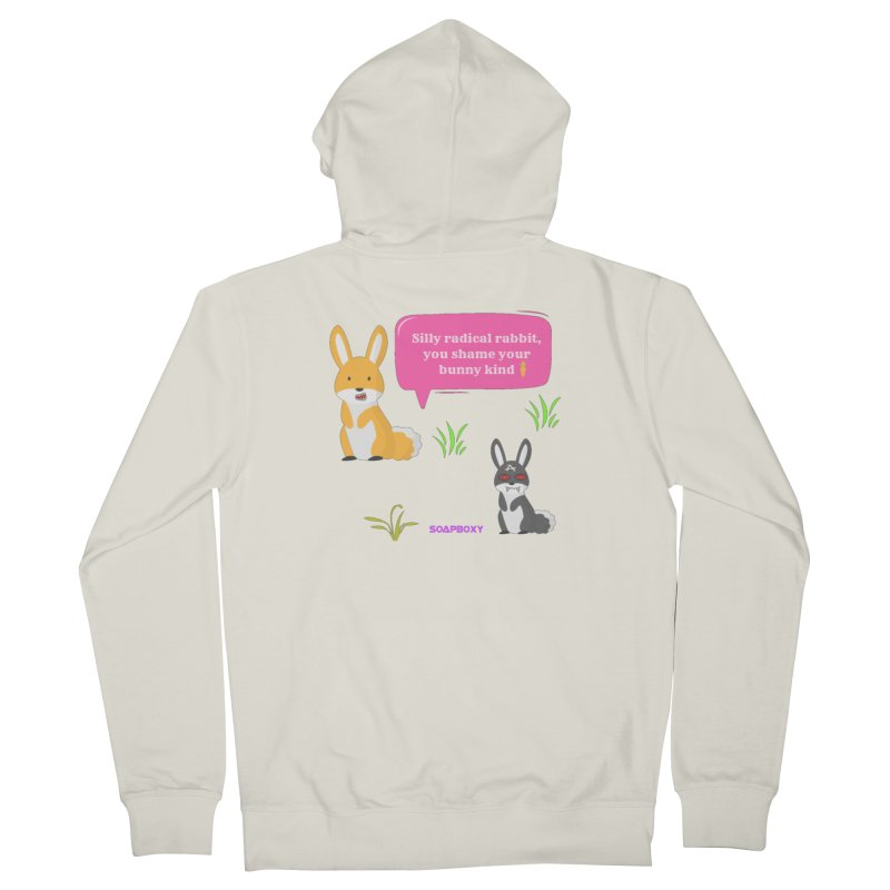 Bunny kind Men's French Terry Zip-Up Hoody by Soapboxy Boutique