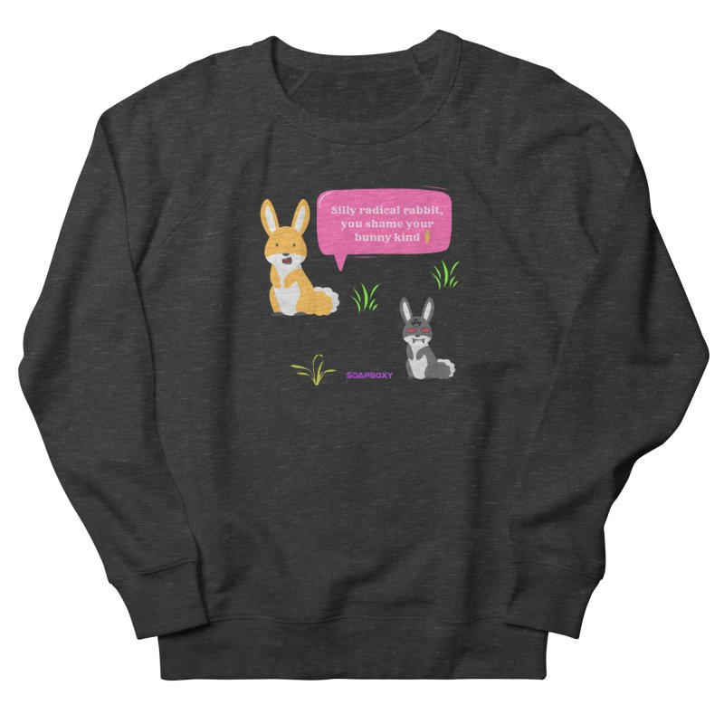 Bunny kind Men's French Terry Sweatshirt by Soapboxy Boutique