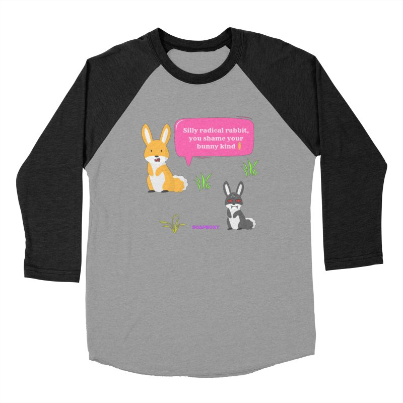 Bunny kind Women's Baseball Triblend Longsleeve T-Shirt by Soapboxy Boutique