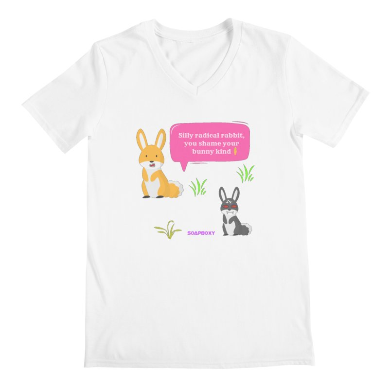 Bunny kind Men's Regular V-Neck by Soapboxy Boutique