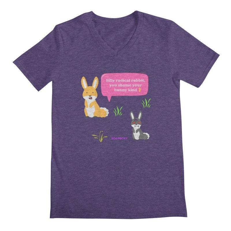 Bunny kind Men's Regular V-Neck by Soapboxy Boutique