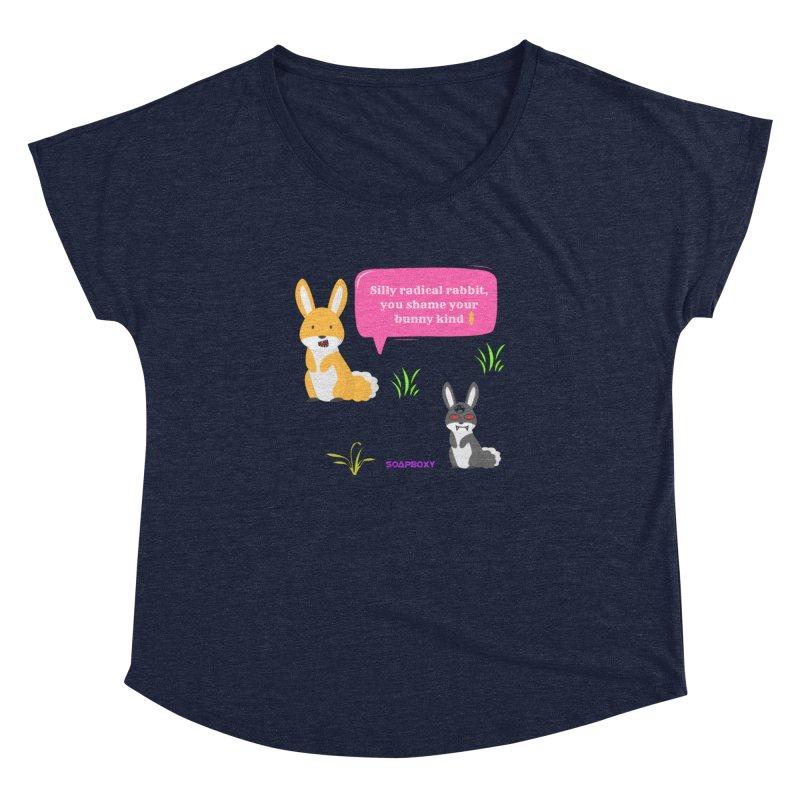 Bunny kind Women's Dolman Scoop Neck by Soapboxy Boutique