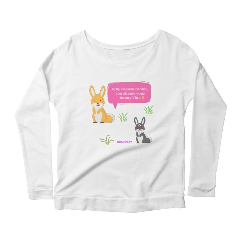 Bunny kind Women's Scoop Neck Longsleeve T-Shirt by Soapboxy Boutique