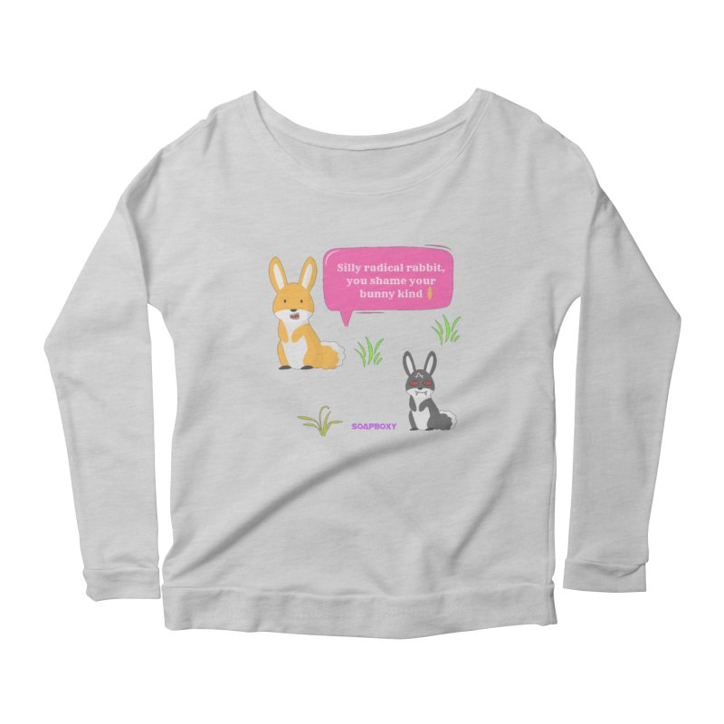 Bunny kind Women's Scoop Neck Longsleeve T-Shirt by Soapboxy Boutique