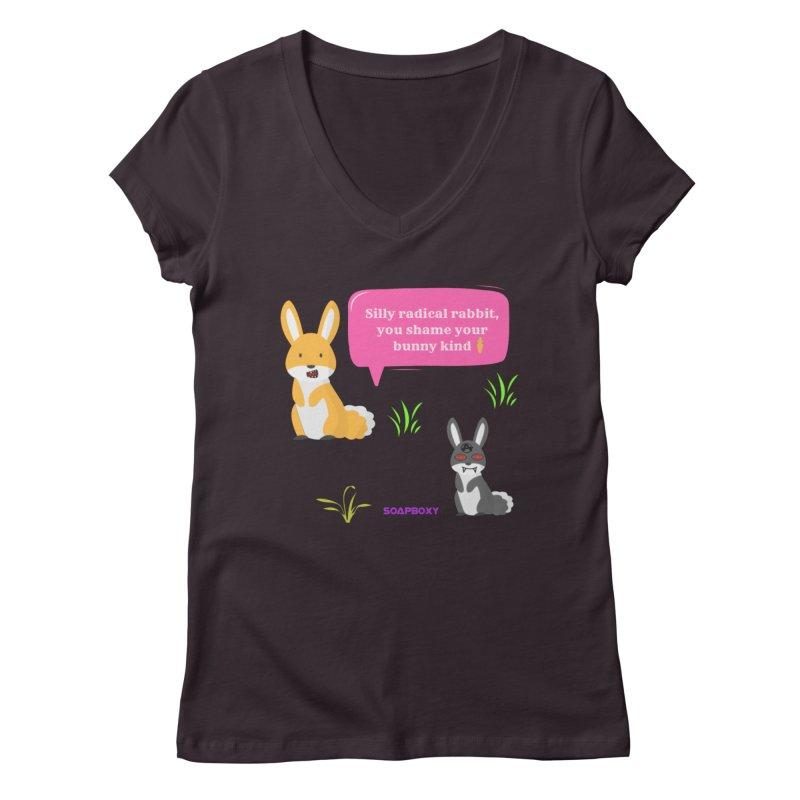Bunny kind Women's Regular V-Neck by Soapboxy Boutique