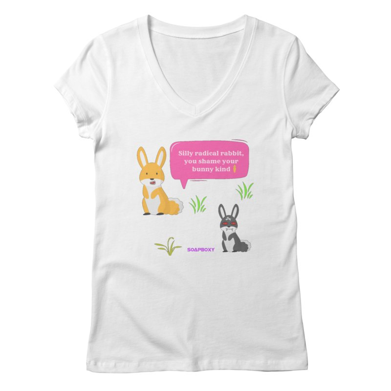 Bunny kind Women's Regular V-Neck by Soapboxy Boutique