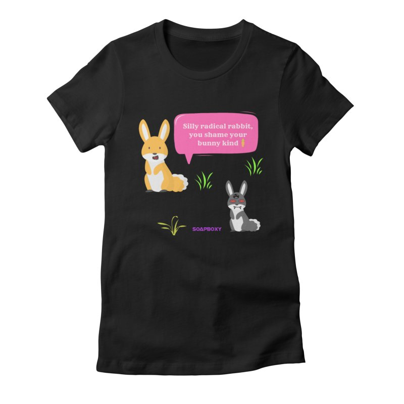 Bunny kind Women's Fitted T-Shirt by Soapboxy Boutique