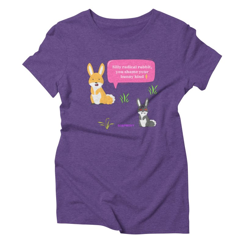 Bunny kind Women's Triblend T-Shirt by Soapboxy Boutique
