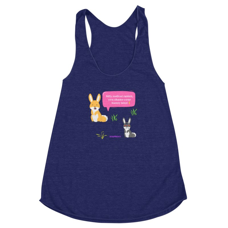 Bunny kind Women's Racerback Triblend Tank by Soapboxy Boutique