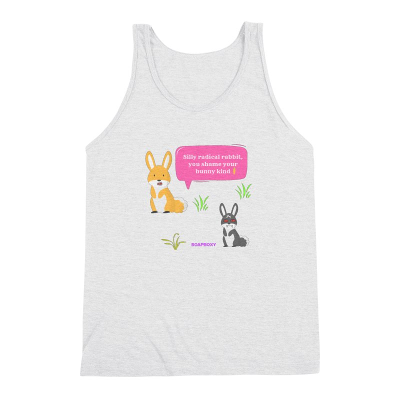 Bunny kind Men's Triblend Tank by Soapboxy Boutique