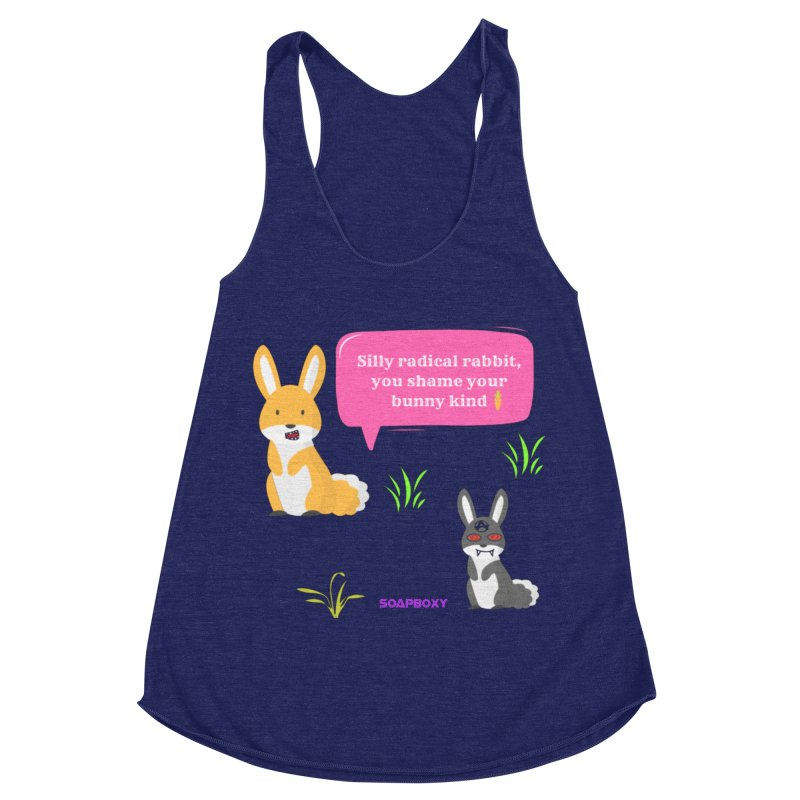 Bunny kind Women's Racerback Triblend Tank by Soapboxy Boutique